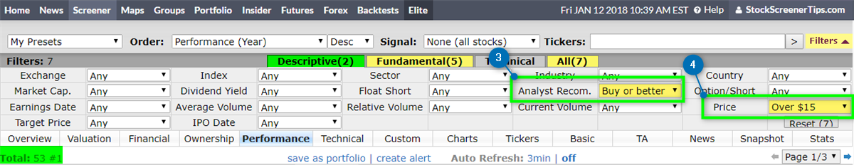 High Growth Stocks Screener | StockScreenerTips com