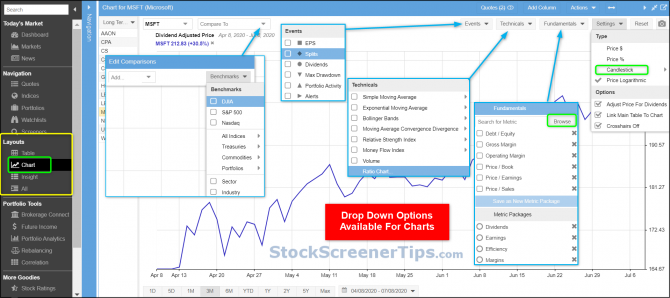 stock rover chart review