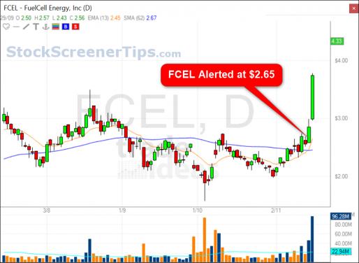pre-market stock screener chart 1