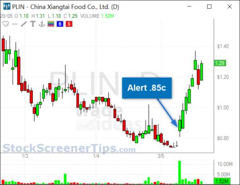 Penny Stock Screener example 2